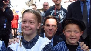een close-up met premier Mark Rutte